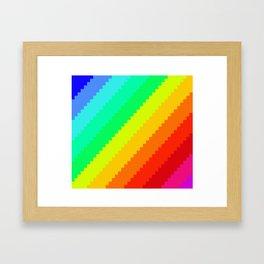 Pixel Rainbow Dreams Framed Art Print