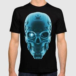 Gamer Skull BLUE TECH / 3D render of cyborg head T-shirt