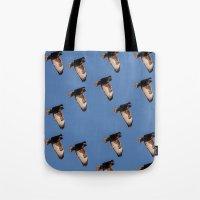 hawk Tote Bags featuring Hawk by Mark Alder