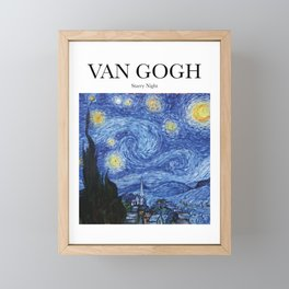 Van Gogh - Starry Night Framed Mini Art Print