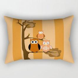 Orange Owls Rectangular Pillow