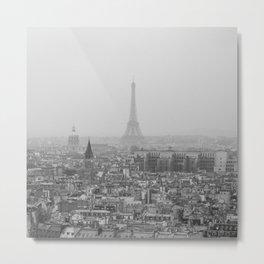 Hazy Eiffel Tower Metal Print