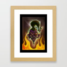 Rebel Shrunken Head Framed Art Print
