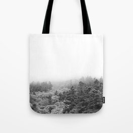 Forest Photography | Black and White Tote Bag