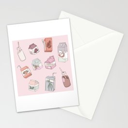 Alternative Milk Pattern Stationery Cards