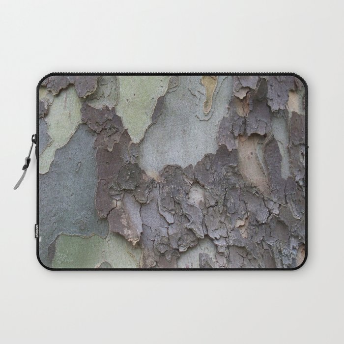 sycamore bark with a green tinge Laptop Sleeve