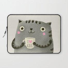I♥kill (brown) Laptop Sleeve