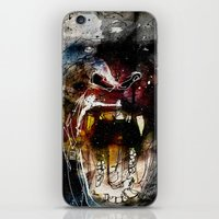 gorilla iPhone & iPod Skins featuring Gorilla by Ed Pires