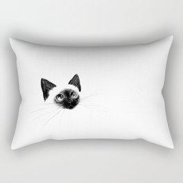 Curious Siamese Kitten Rectangular Pillow