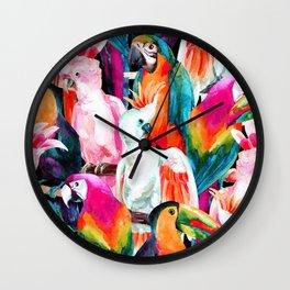 Exotic birdlife Wall Clock