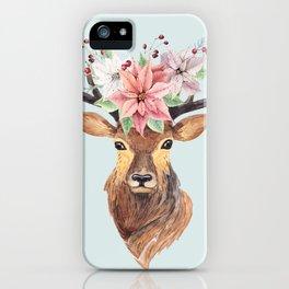 Winter Deer 2 iPhone Case