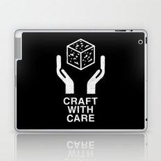 Craft With Care (Black) Laptop & iPad Skin