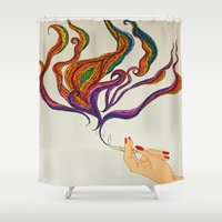 political Shower Curtains featuring Political Views by Aries Art
