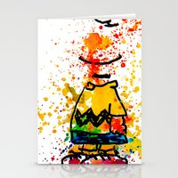 charlie brown Stationery Cards featuring Charlie Brown by benjamin james
