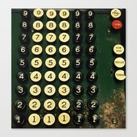 numbers Canvas Prints featuring Numbers by Hazel Bellhop