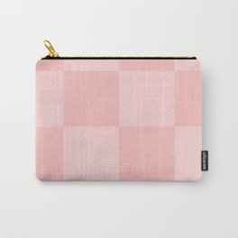 Pink 2 Tone Pattern Carry-All Pouch