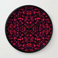 crystals Wall Clocks featuring Crystals  by Claudia Owen