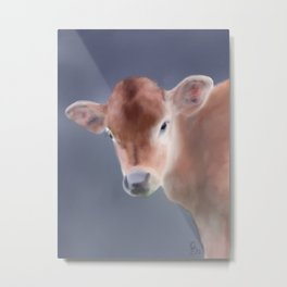 Moooove over, it's time for my close up - farm series Metal Print