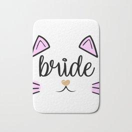 Bride Cat Bachelorette Team Bride Shirt Bridal Party Shower Gift Bridesmaid Shirts Bath Mat
