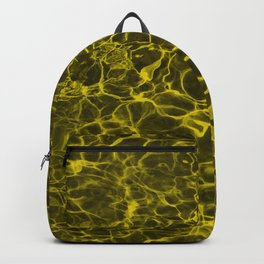 Highlighter Neon Yellow Underwater Wavy Rippling Water Backpack