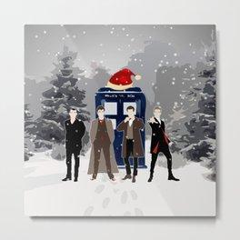 Tardis Holiday With The Doctors Metal Print