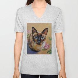 Siamese Cat Unisex V-Neck