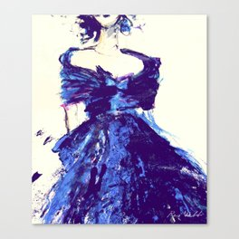 Blue Silk Dress Canvas Print