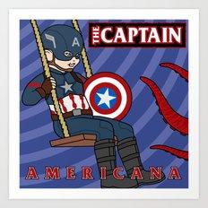 Captain Americana Art Print