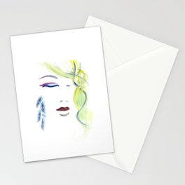 with the Shaman ~ Still like the Moon Stationery Cards