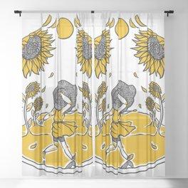 Sunflower Fields Sheer Curtain