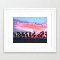 coachella Framed Art Prints featuring Coachella Sunset by The Bun