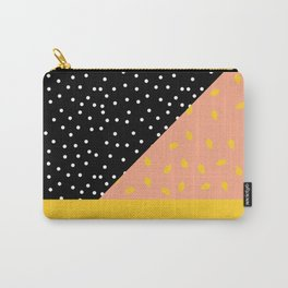 Peach Fuzz Black Polka Dot /// www.pencilmeinstationery.com Carry-All Pouch