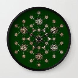 molecule of life. sacred geometry. alien crop circle Wall Clock
