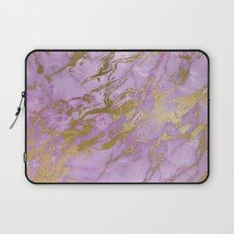 Lavender Gold Marble Laptop Sleeve