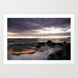 The Shoulders Of Waves Art Print