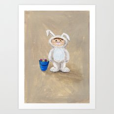 I'm A Rabbit - but I wanted to be a Fireman Art Print