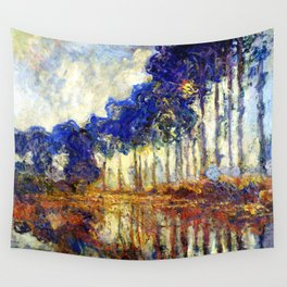 Monet : Poplars on the Banks of the River Epte, 1891 Wall Tapestry