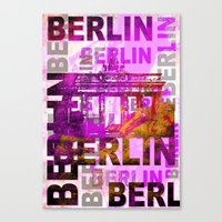 berlin Canvas Prints featuring Berlin  by LebensART