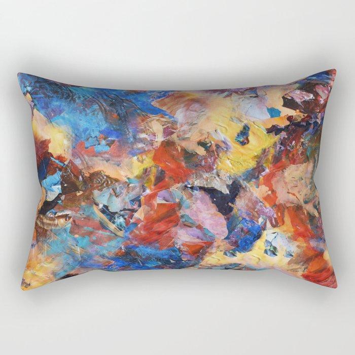 Dark Paint Splash Rectangular Pillow