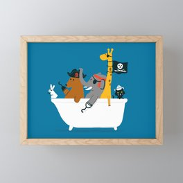 Everybody wants to be the pirate Framed Mini Art Print