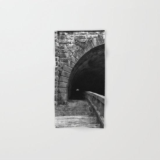 Paw Paw Grunge Tunnel - Black & White Hand & Bath Towel
