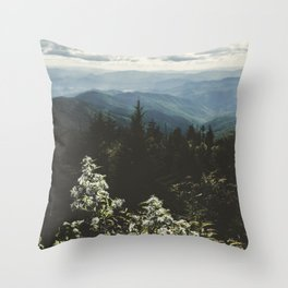 Smoky Mountains - Nature Photography Throw Pillow