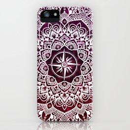 Voyaging Spirit Purple Red Mandala iPhone Case