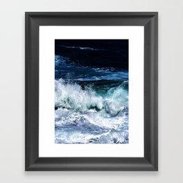 Dark Blue Waves Framed Art Print