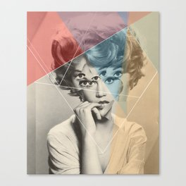 Another Portrait Disaster · with Jane Canvas Print