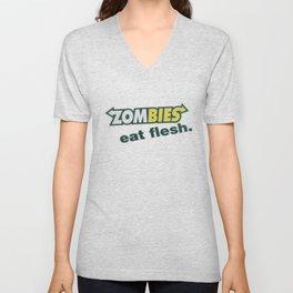 Zombie Eat flesh Unisex V-Neck