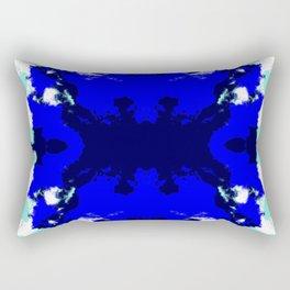 Ichiho - Blue Ocean Batik Camouflage Tie-Dye Style Pattern Rectangular Pillow