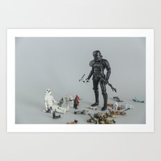 Sandbox Trooper Art Print