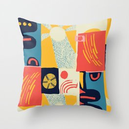Suns Scandinavian Design Throw Pillow