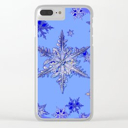 """""""BLUE SNOW ON SNOW"""" BLUE WINTER ART Clear iPhone Case"""